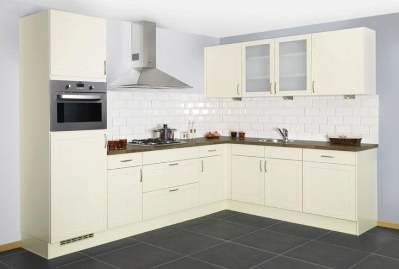 Landelijk Kleuren Keuken : U vormige keuken wit